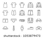 men clothes icon set. included... | Shutterstock .eps vector #1053879473