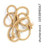 ship rope isolated on white...   Shutterstock . vector #1053898367