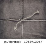 linen cloth tied up with ropes... | Shutterstock . vector #1053913067