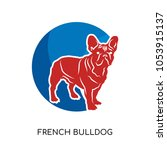 french bulldog logo isolated on ... | Shutterstock .eps vector #1053915137