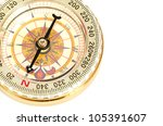 black compass isolated on a... | Shutterstock . vector #105391607