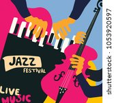 jazz music festival colorful... | Shutterstock .eps vector #1053920597
