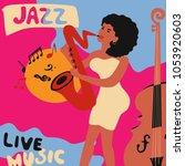 jazz music festival colorful... | Shutterstock .eps vector #1053920603