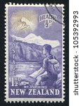 new zealand   circa 1954  stamp ... | Shutterstock . vector #105392993