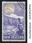 new zealand   circa 1954  stamp ... | Shutterstock . vector #105392993