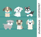 set from vector illustrations... | Shutterstock .eps vector #1053950987