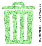 trash bin composition of dots... | Shutterstock .eps vector #1053963383