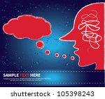 bubble abstract vector | Shutterstock .eps vector #105398243