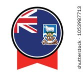 flag of falkland islands vector ... | Shutterstock .eps vector #1053987713