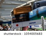 travel bag with japan lable | Shutterstock . vector #1054005683