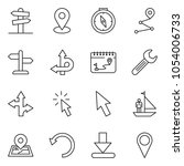 thin line icon set   manager... | Shutterstock .eps vector #1054006733