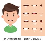 lip sync collection for... | Shutterstock .eps vector #1054010213
