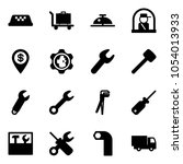 solid vector icon set   taxi... | Shutterstock .eps vector #1054013933