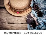 travel and vacations concept ... | Shutterstock . vector #1054016903