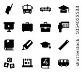 solid vector icon set  ... | Shutterstock .eps vector #1054023533