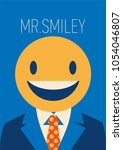 businessman with a smiley face... | Shutterstock .eps vector #1054046807
