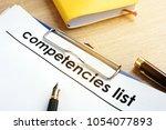 competencies list with... | Shutterstock . vector #1054077893