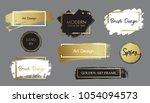 vector black paint  ink brush ... | Shutterstock .eps vector #1054094573