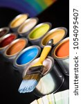 paint can and paintbrush | Shutterstock . vector #1054095407