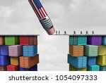 american trade sanctions and... | Shutterstock . vector #1054097333