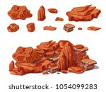 cartoon colorful stones concept ... | Shutterstock .eps vector #1054099283