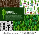 vector home cactus illustration | Shutterstock .eps vector #1054100477