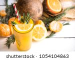 summer composition with fresh... | Shutterstock . vector #1054104863