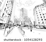 wellington. new zealand. hand... | Shutterstock .eps vector #1054128293