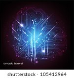 abstract circuit board vector technology background - stock vector