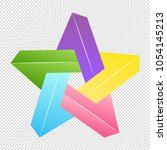 star with intersecting penrose... | Shutterstock .eps vector #1054145213