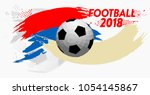 football 2018 world... | Shutterstock .eps vector #1054145867