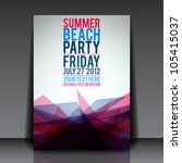 abstract summer party flyer... | Shutterstock .eps vector #105415037