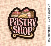 vector logo for pastry shop ... | Shutterstock .eps vector #1054160507