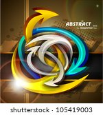 stylized abstract background... | Shutterstock .eps vector #105419003