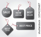 collection of grey sale tags.... | Shutterstock .eps vector #1054220687