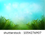 exotic tropical leaf and frower ... | Shutterstock .eps vector #1054276907