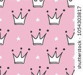 hand drawn seamless pattern... | Shutterstock .eps vector #1054303817