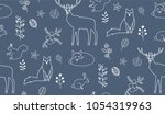 seamless pattern with... | Shutterstock .eps vector #1054319963