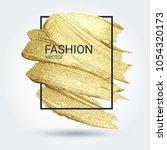 gold grunge texture in a frame. ... | Shutterstock .eps vector #1054320173