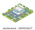 supermarket or shop building... | Shutterstock .eps vector #1054323617