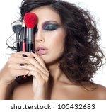 portrait of attractive ... | Shutterstock . vector #105432683