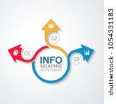 vector infographic template for ...   Shutterstock .eps vector #1054331183