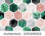 marble seamless background with ... | Shutterstock .eps vector #1054340423