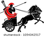 chariot charging with spear | Shutterstock .eps vector #1054342517