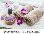 beautiful spa composition... | Shutterstock . vector #1054356083