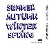 seasonal fonts. hand drawn... | Shutterstock .eps vector #105437003