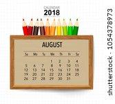 2018 Calendar Planner Vector...