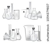 vector piles of chemical... | Shutterstock .eps vector #1054379837