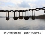 said love of the lock on the... | Shutterstock . vector #1054400963