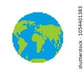 earth pixel art. pixelated... | Shutterstock .eps vector #1054401383
